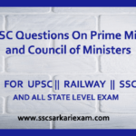 UPSC Questions On Prime Minister and Council of Ministers