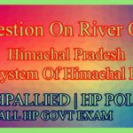 Question On River Of Himachal Pradesh | River System Of Himachal Pradesh