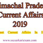 Himachal Pradesh Current Affairs 2019