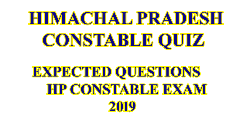 HP GK HINDI FOR HP CONSTABLE 2019
