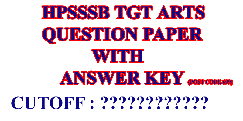 HPSSSB TGT Arts Answer 2019