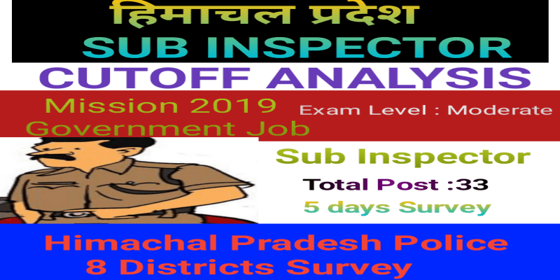 HP SUB INSPECTOR CUTOFF ANALYSIS 2019