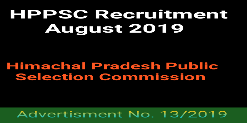 HPPSC Recruitment 2019