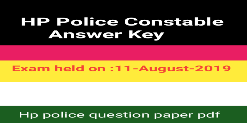 HP Police Constable Answer Key 2019