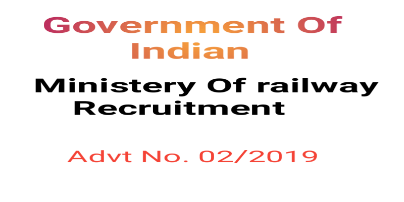 GOVERNMENT OF INDIA MINISTRY OF RAILWAYS RECRUITMENT