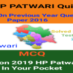 HP PATWARI MCQ SERIES 2019