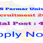 DR. YS PARMAR UNIVERSITY RECRUITMENT 2020