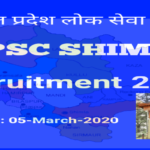 HPPSC SHIMLA RECRUITMENT 2020